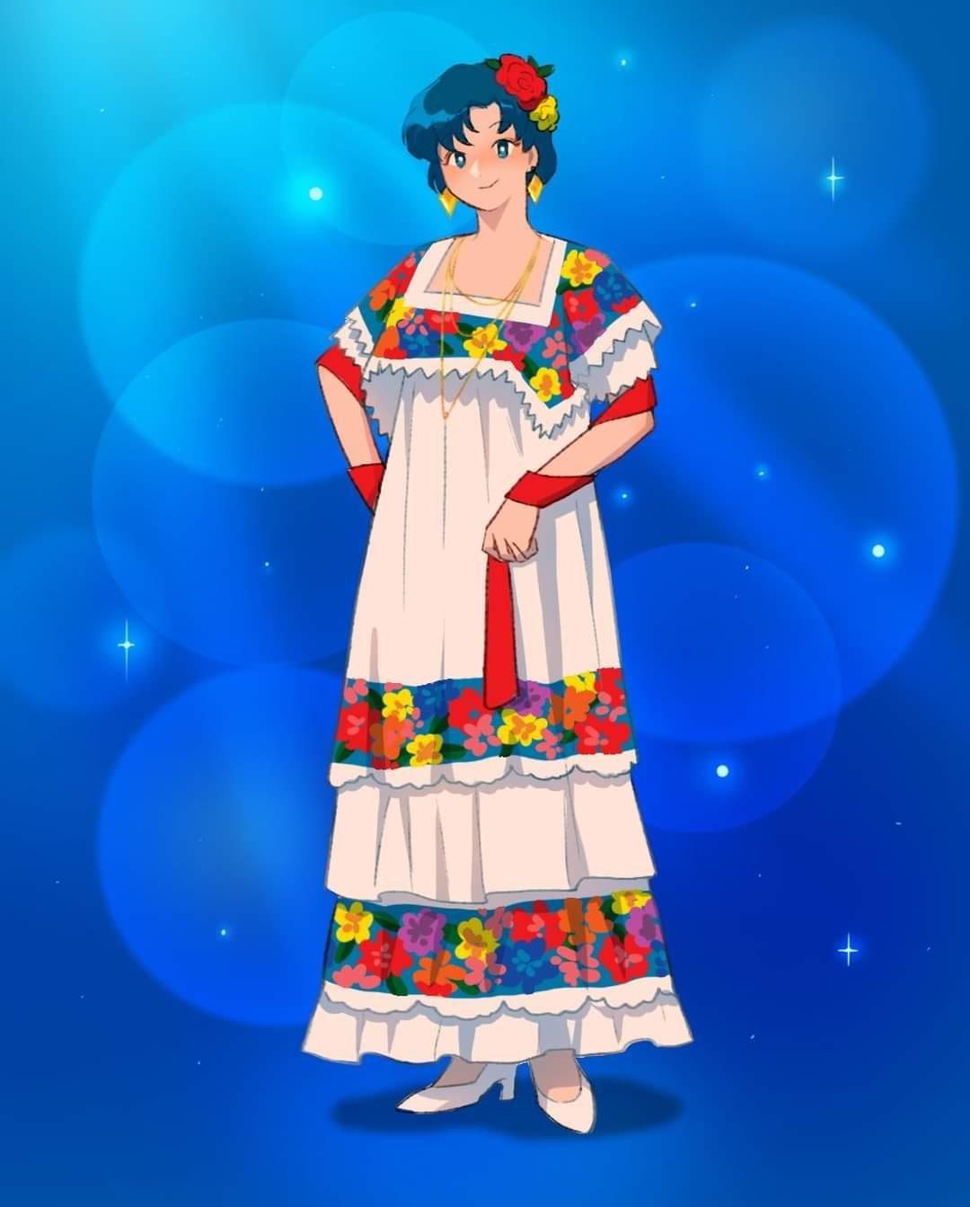 Ami traje tipico mexico