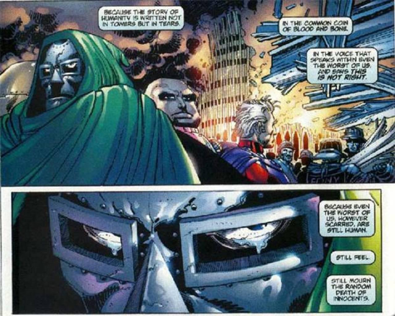 Marvel Comics Spider-Man Doctor Doom Torres Gemelas 9 Septiembre 2001