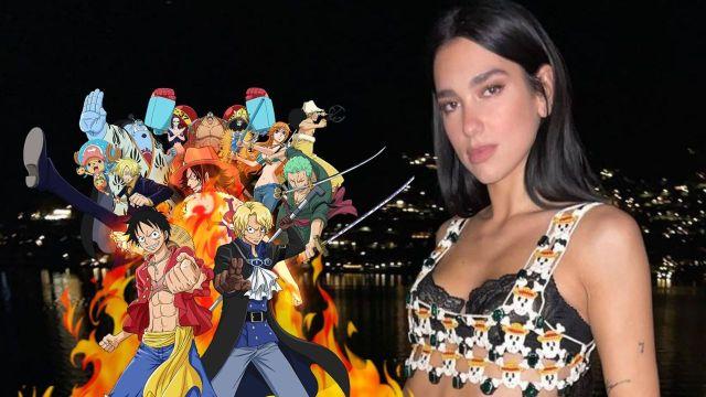 Dua Lipa One Piece atuendo anime