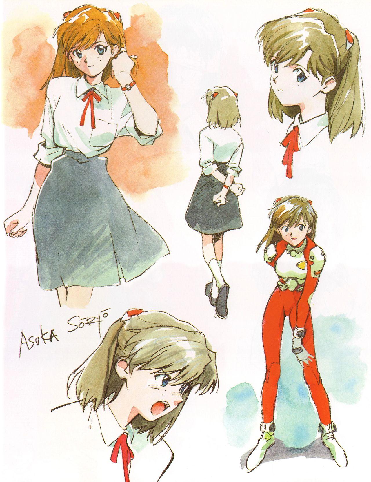 personajes de evangelion yoshiyuki sadamoto