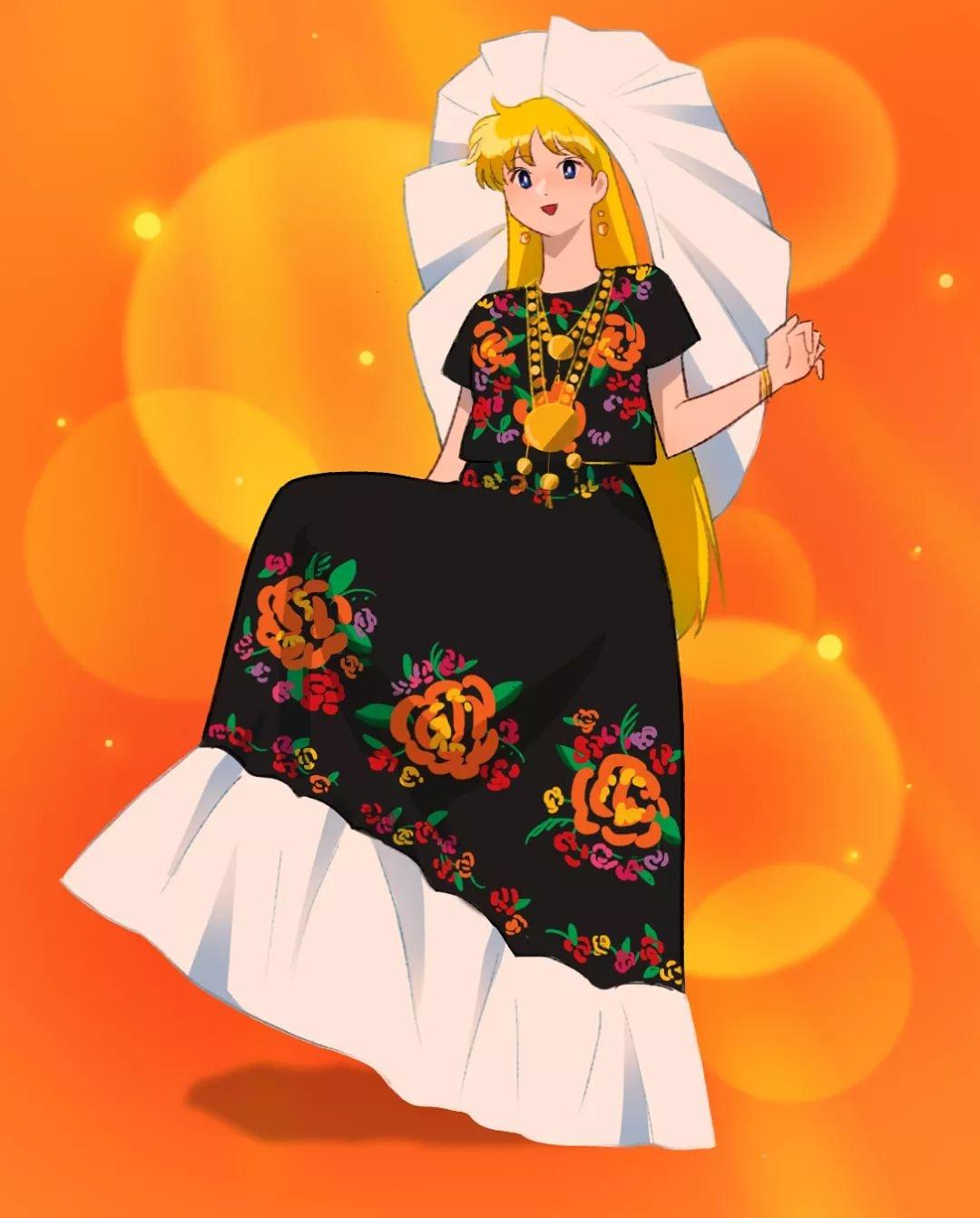 Mina traje tipico méxico