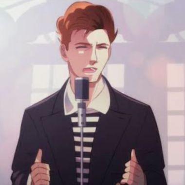 Rick Astley canción versión anime viral