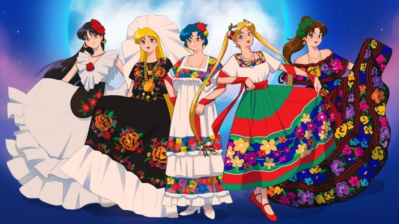 Sailor Moon trajes típicos mexicanos