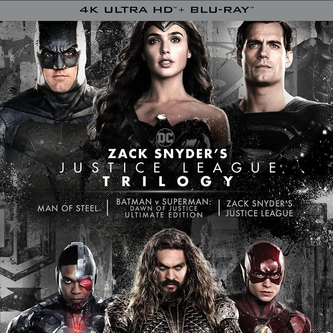 Zack Snyder Trilogia Justice League Blu Ray