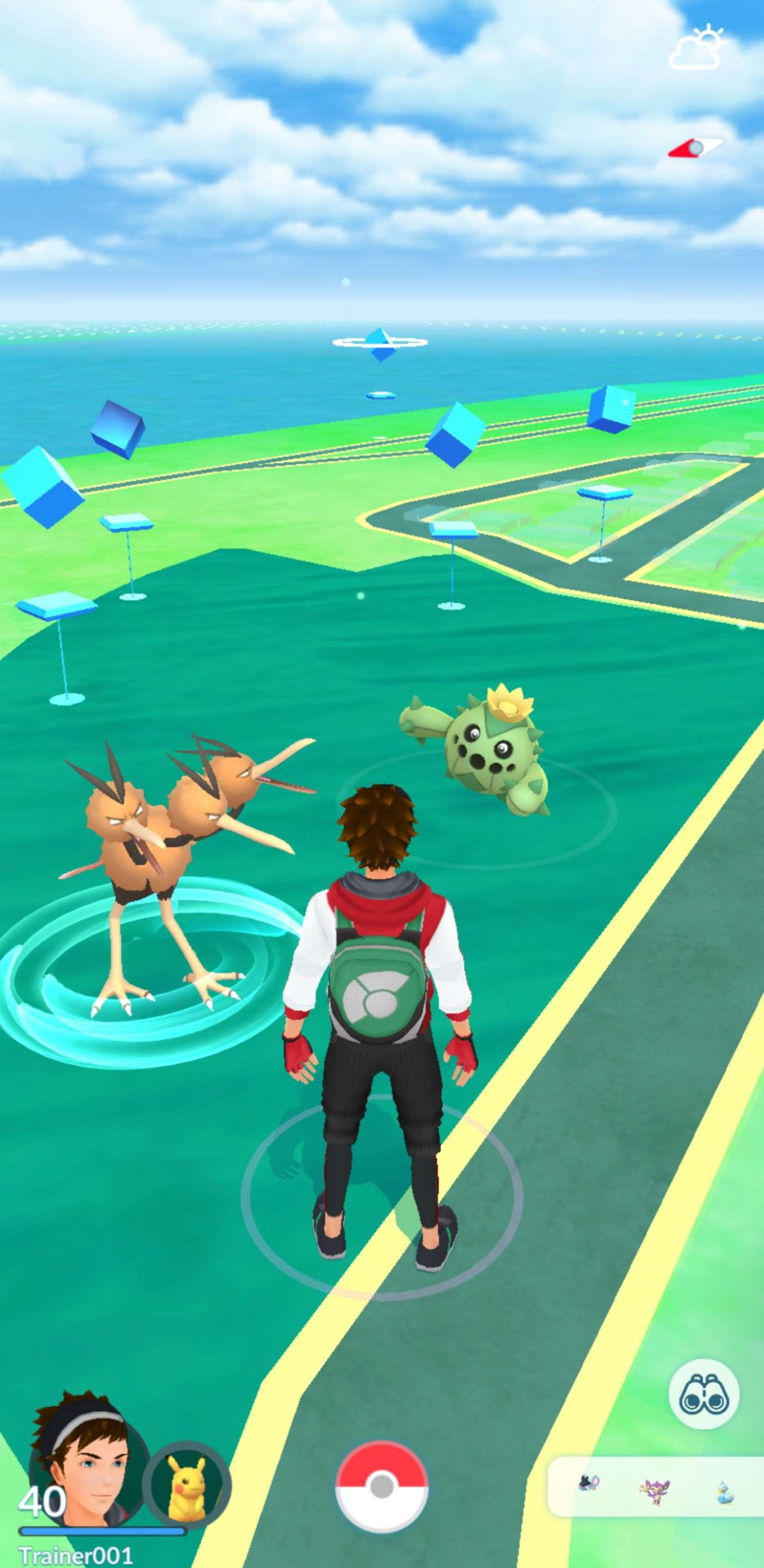 Pokémon Go entrenadores juego