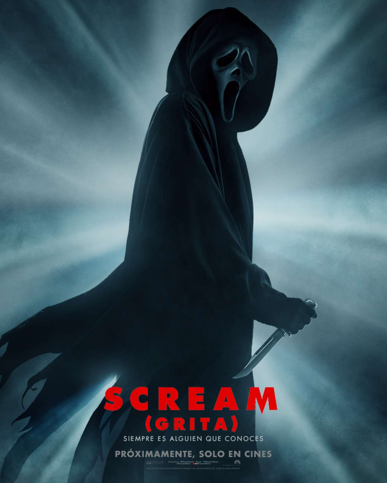 Scream poster tráiler película