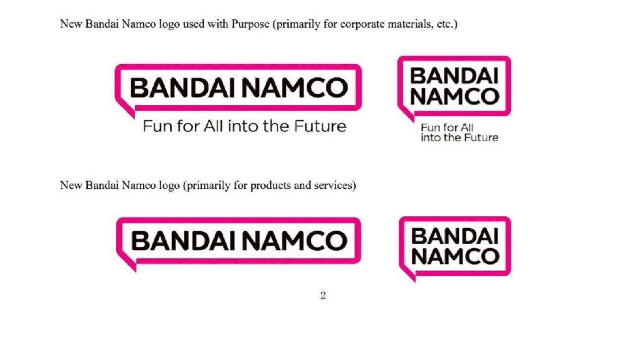 Bandai Namco Nuevo Logo Purpura