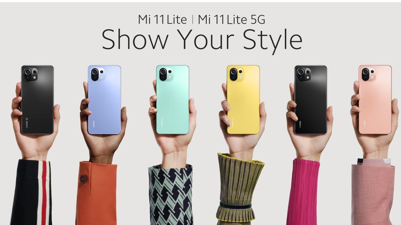 xiaomi MI 11 Lite mexico colores