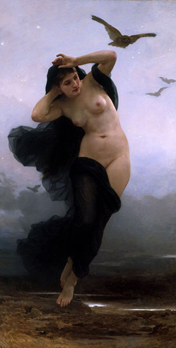 Nyx, diosa primordial de la noche en la mitología griega.