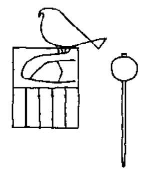 Marca de arcilla con el nombre del faraón Escorpión II (Dietrich Wildung).