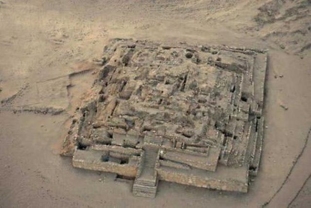 Restos de la Gran Pirámide de Caral