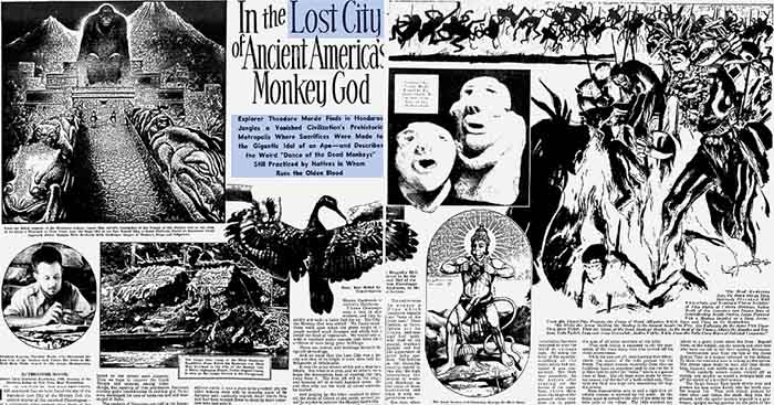 Article by Theodore Morde published on September 22, 1940 in The American Weekly City of Honduras