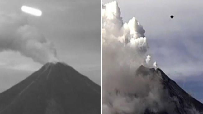 UFOs over the Colima volcano Earthquakes and UFO sightings