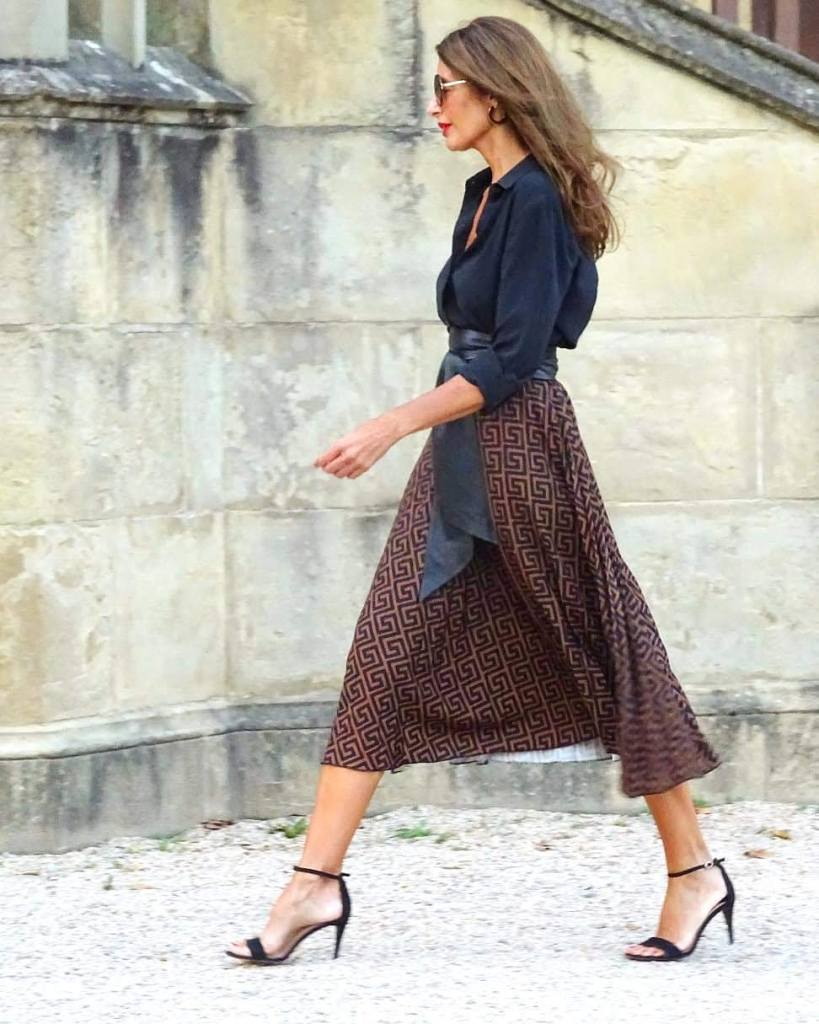Looks 2020 e ideas  con la Falda Midi.