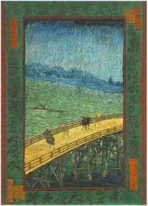 Puente bajo la lluvia (según Hiroshige), por Van Gogh - Fuente: Van Gogh Gallery