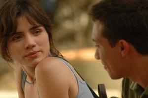Carolina Riveros actuando durante el rodaje de una película /Fuente: C.R.