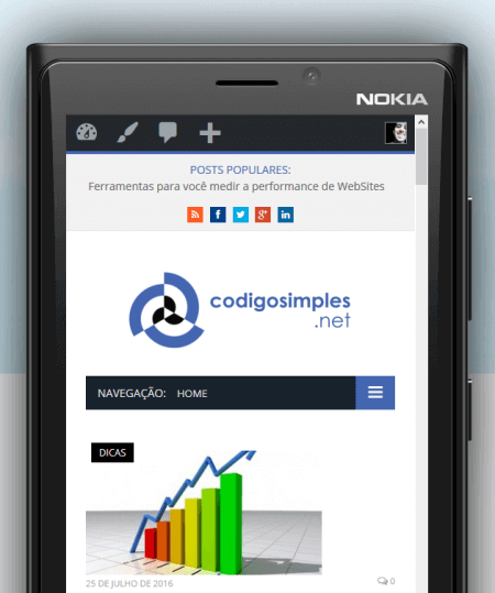 mobile teste codigosimples