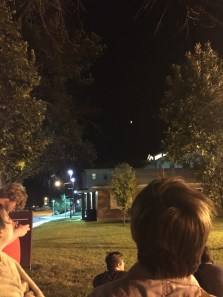 Watching the lunar eclipse with follow Conner Hall residents