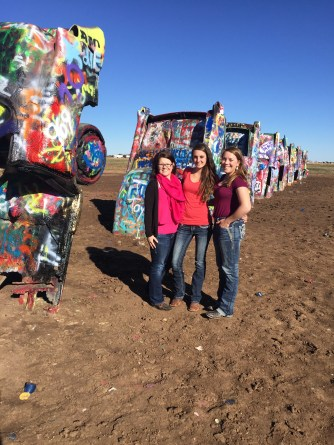 Cadillac Ranch with friends from Colorado