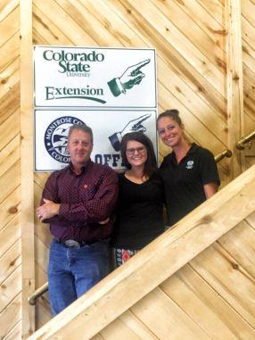 A Texas Tech Red Raider, WT Buff, and a CSU Ram make up part of CSU Extension