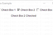 AWT Checkbox Example