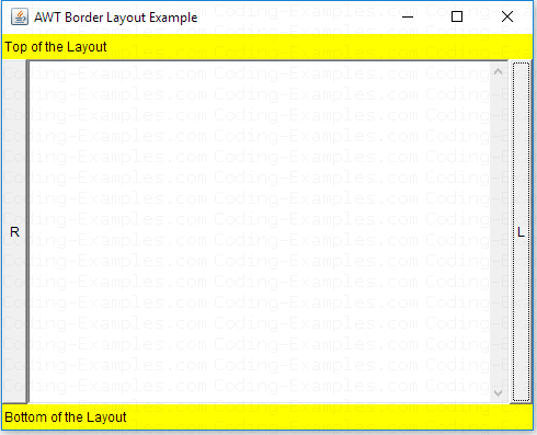 Java AWT Border Layout Example