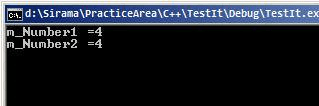 Prefix Operator Program Output