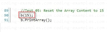 Subscript Operator initializing the Array