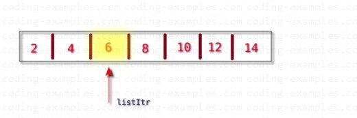 std::list::erase - Remove Single Element