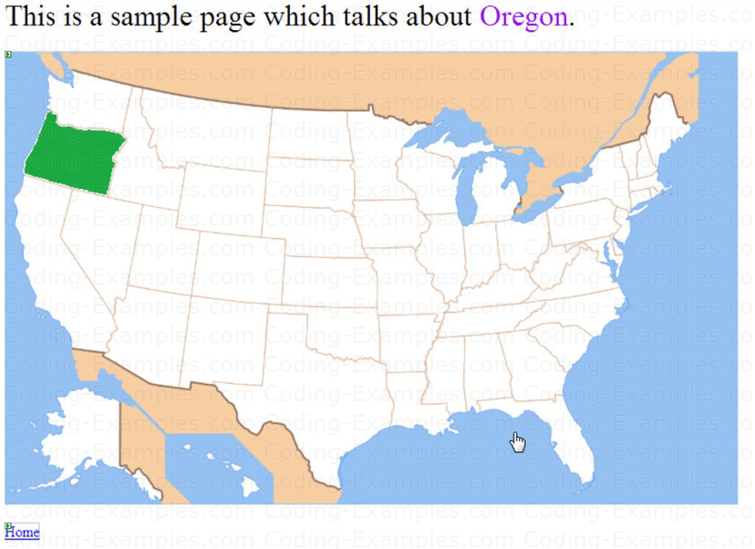 A Completed Page for the State of Oregon