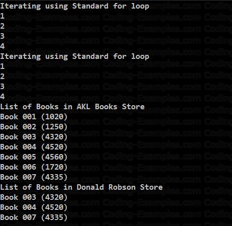 Custom ForEach Example Output