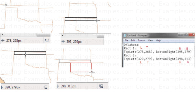 Hotspot values for Oklahoma State. Note, how two rectangle together defines the region