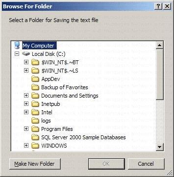 C-Sharp Folder Browser Dialog