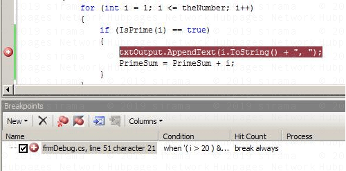 Conditional Breakpoint appearance
