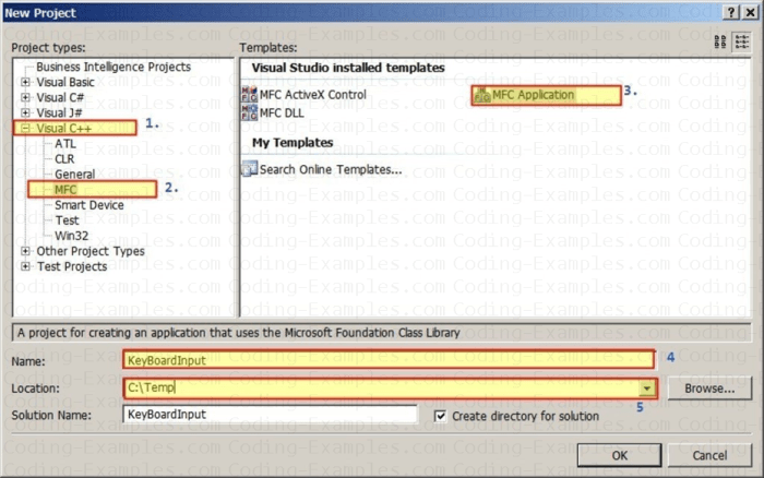 Create MFC SDI Application to Handle Keyboard Messages