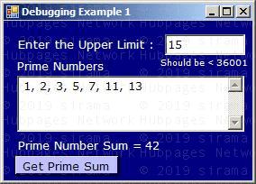 Sample Application for Debugging
