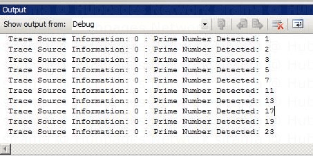Trace Information In Debug OutputWindow