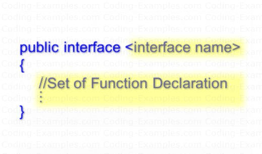 Syntax of declaring an C# Interface