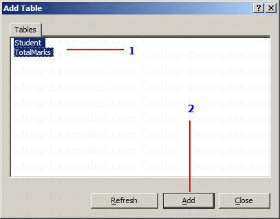 Add Tables to database diagram