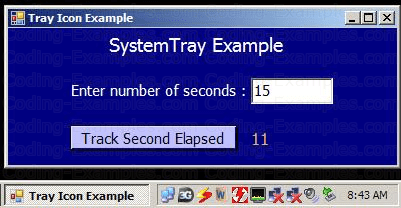SystemTray Using NotifyIcon Control Example
