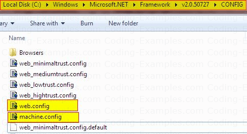 ASP.Net Default Config Files