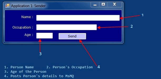 About the MSMQ Send Message Example