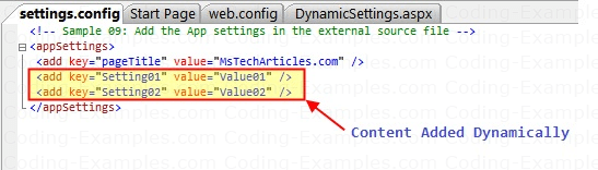 Dynamically Added WebConfig Content