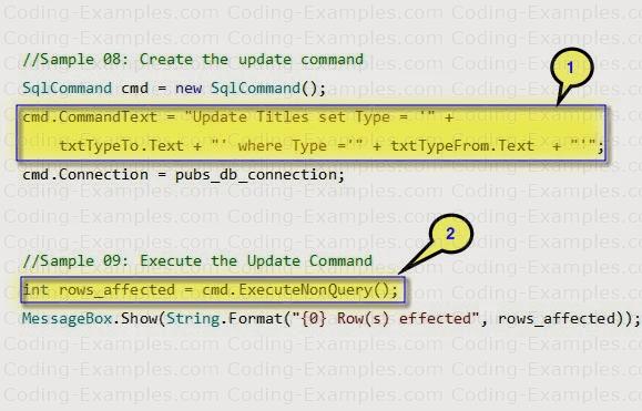 Ado.Net ExecuteNonQuery Example