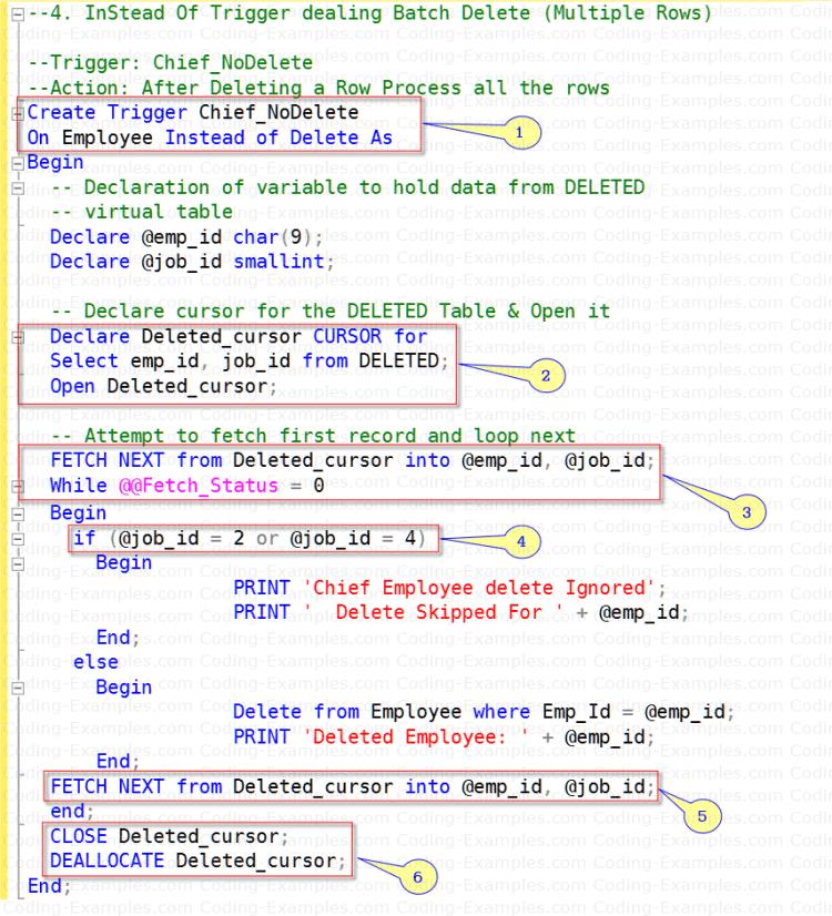 SQL Trigger handling multiple rows affected