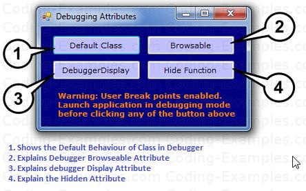 Debugging Attributes C# Example