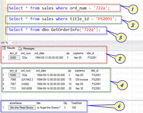 Executing Multi-Line Table valued function Usage
