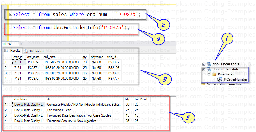 Multi-Line Table valued function Usage