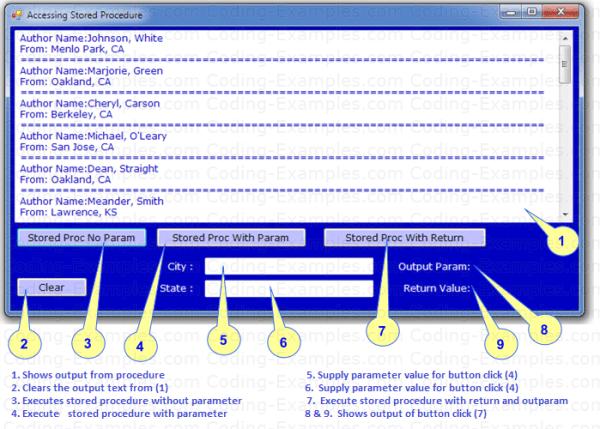 Ado.Net Stored Procedure Example