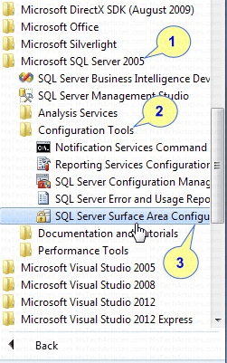 Accessing Surface Area Configuration in SQL 2005